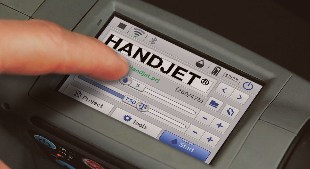 HANDJET – mobile printers from EBS Ink-Jet Systems